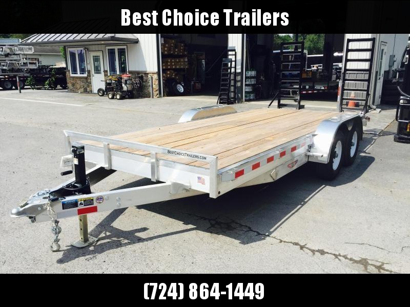 2019 H&H HAD 7x18 ALUMINUM Equipment Trailer 9990# GVW * ALUMINUM RAMPS * 4 SWIVEL D-RINGS * EXTRA STAKE POCKETS * SPARE TIRE MOUNT * ADJUSTABLE COUPLER