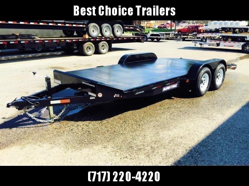 2018 Sure-Trac 7x20' Steel Deck Car Hauler 9900# GVW - LOW LOAD ANGLE * CLEARANCE - FREE ALUMINUM WHEELS