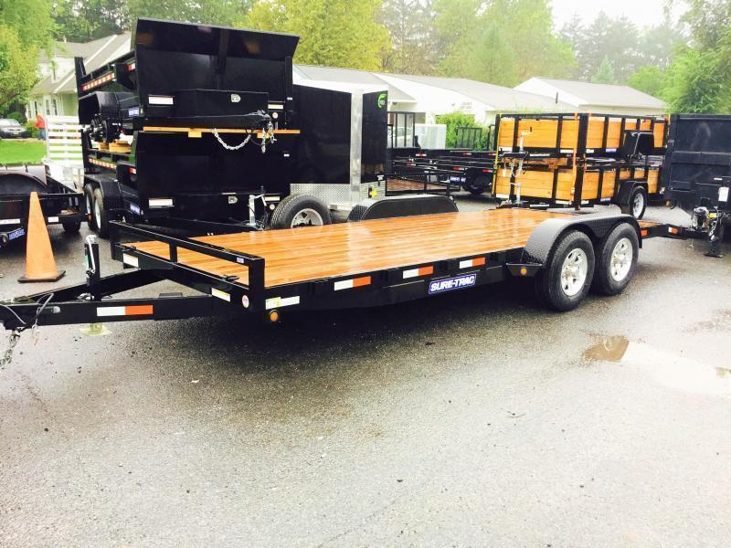 2017 Sure-Trac 7x20' 9900# Wood Deck Car Hauler