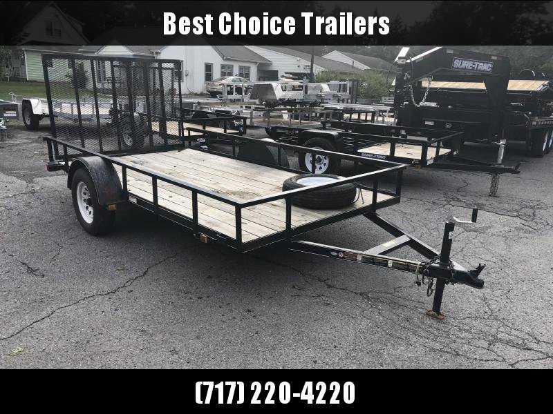 USED 2016 Carry On 6x12' Utility Landscape Trailer 2990# GVW w/ Gate