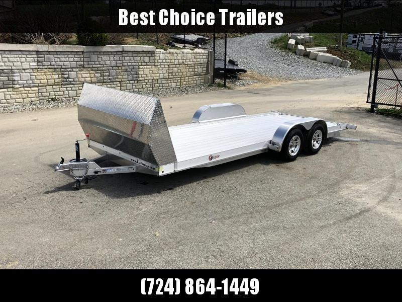 2018 Kiefer 7x20' 7000# Aluminum Car Hauler TORSION EXTRUDED FLOOR ALUMINUM WHEELS LOW LOAD ANGLE 6' RAMPS * ALUMINUM AIRDAM