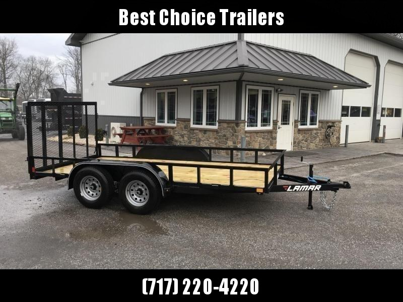 "2019 Lamar 77""x14' Utility Landscape Trailer 7000# GVW * CHARCOAL * CLEARANCE - FREE SPARE & MOUNT"
