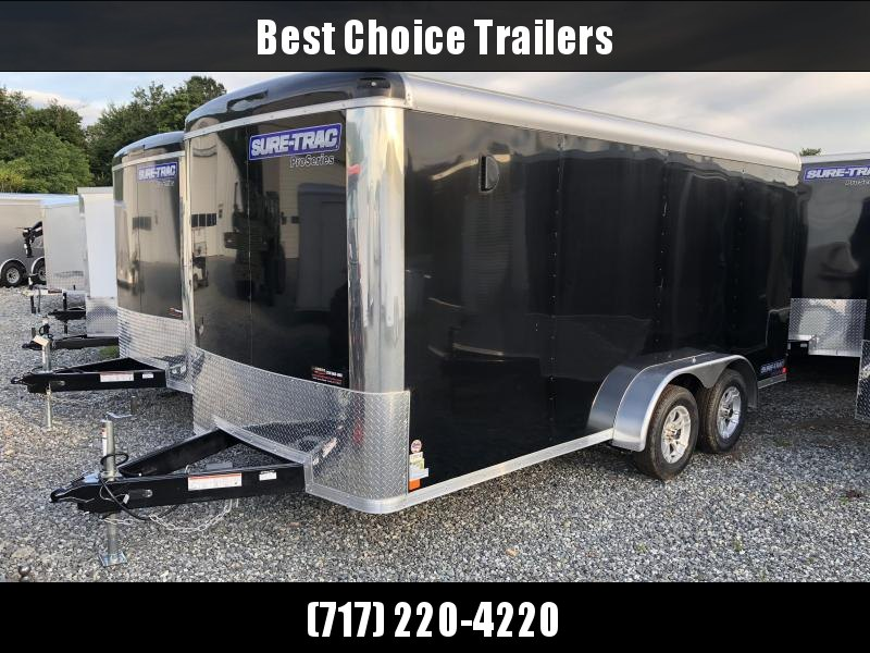 2018 Sure-Trac 7x16' Enclosed Cargo Trailer 7000# GVW - STR8416TA * CLEARANCE
