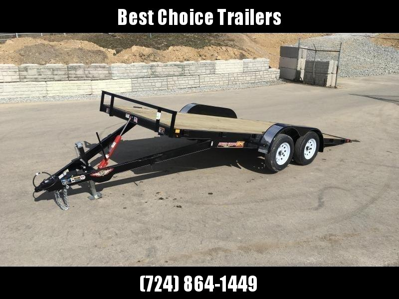 2018 Sure Trac 7x18' MX Manual Tilt Car Hauler 7000# GVW  * CLEARANCE - FREE ALUMINUM WHEELS