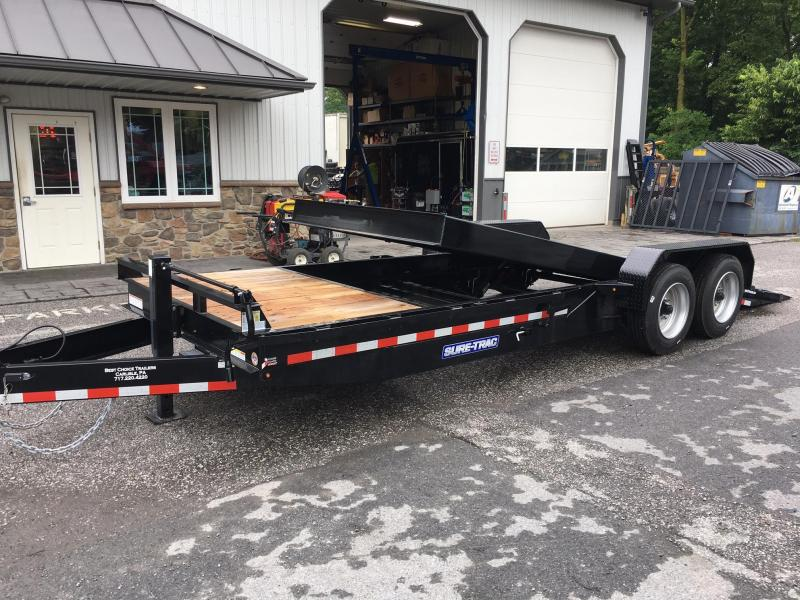 2017_Sure Trac_Tilt_Bed_Equipment_Trailer_7X184_16000_y4KP8i used 2015 load trail gg14 14000 gooseneck gravity tilt equipment  at crackthecode.co