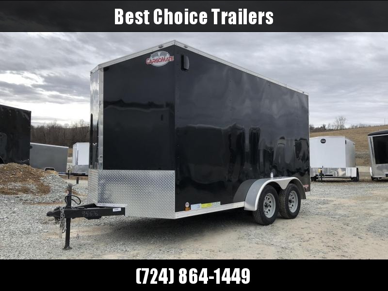 USED 2018 Cargo Mate 7x16 Enclosed Cargo Trailer * 7' HEIGHT * UTV * SLANT V-NOSE * SEMI-SCREWLESS *