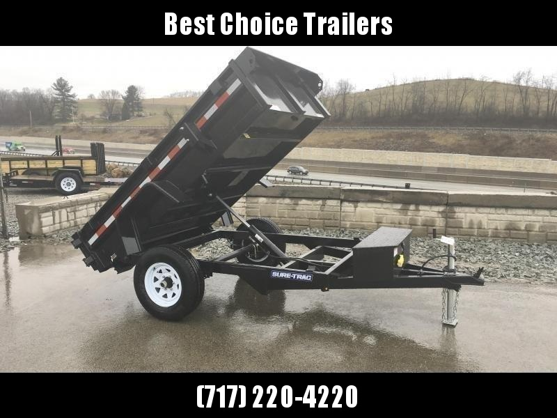 2019 Sure-Trac 5x8' Dump Trailer 5000# GVW BARN DOORS