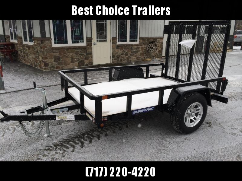 2018 Sure-Trac 5x8' Tube Top Utility Landscape Trailer 2990# GVW * CLEARANCE - FREE ALUMINUM WHEELS