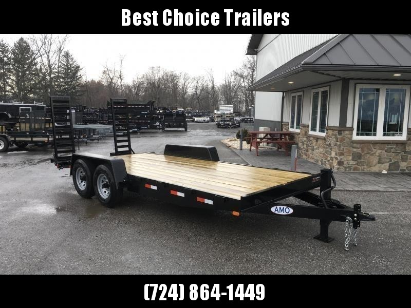 2018 AMO 7x16' Equipment Trailer 12000# GVW * CLEARANCE - FREE ALUMINUM WHEELS