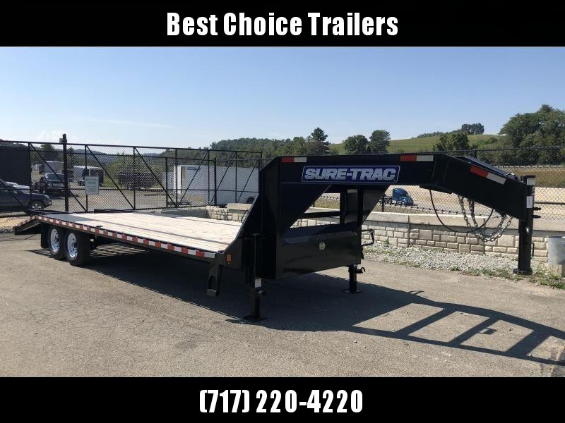 2018 Sure-Trac 102x20+5' Gooseneck Beavertail Deckover Trailer 15000# GVW * PIERCED FRAME * 2 SPEED JACKS * CLEARANCE - FREE ALUMINUM WHEELS