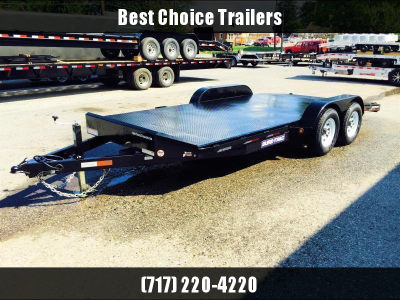2018 Sure-Trac 7x18 Steel Deck Car Hauler 7000# Race Trailer LOW LOAD ANGLE