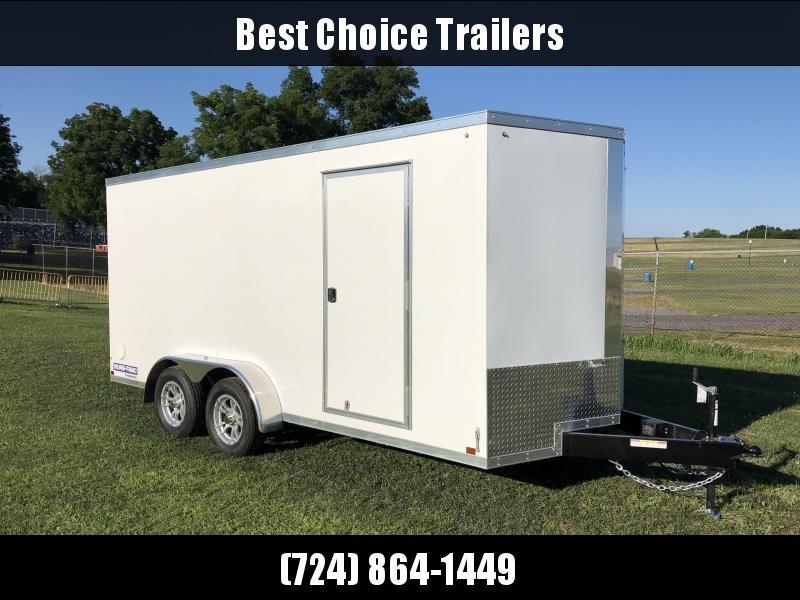 2018 Sure-Trac 7x16' Enclosed Cargo Trailer 7000# GVW * WHITE