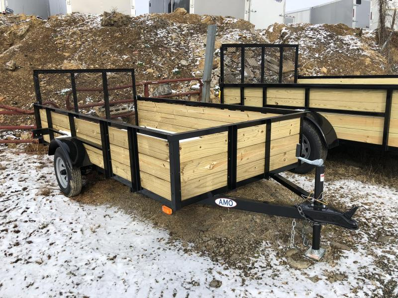 2018 AMO 5x10' Wood Side Utility Trailer 2200# GVW