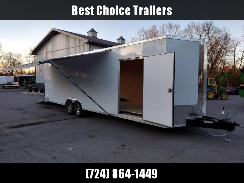 """2018 Sure-Trac 8.5x30' 9900# STWCH Commercial Enclosed Cargo Trailer EXTRAS * +12"""" HEIGHT * 16"""" RUBBER ON ALUMINUM * 2"""" FRAME LIFT * BOGEY WHEELS * 110V PACKAGE * A/C W HEAT * AWNING"""