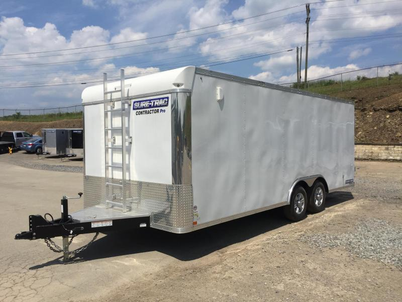 2017 Sure-Trac 8.5x20 Contractor Pro Enclosed Cargo Trailer 9900# GVW