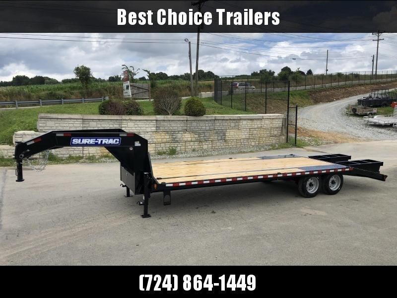 2019 Sure-Trac 102x20+5 17600# Gooseneck Beavertail Deckover Trailer * 8000# AXLE UPGRADE * PIERCED FRAME