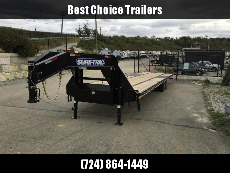 2019 Sure-Trac 102x40 22K Gooseneck HOTSHOT Deckover Trailer PIERCED FRAME * SLIDE IN RAMPS * CLEARANCE