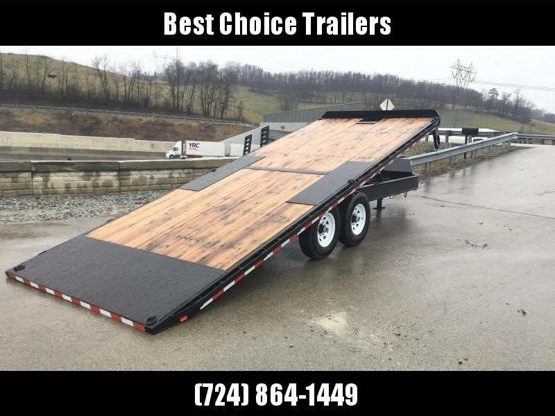 2019 Sure-Trac 102x22' Power Tilt Deckover 15000# GVW * WINCH PLATE * OAK DECK * CLEARANCE - FREE ALUMINUM WHEELS