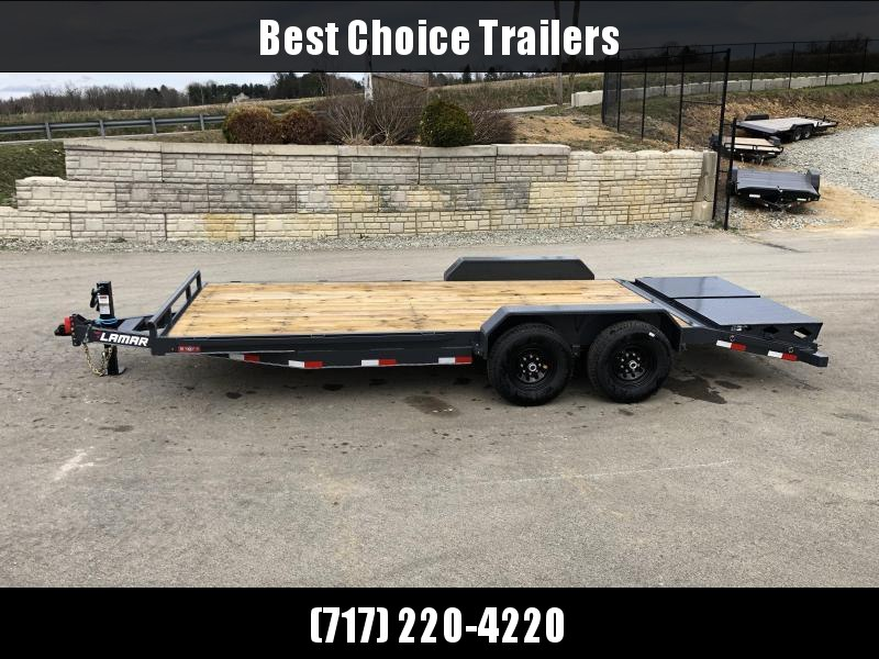 2019 Lamar 7x20' Equipment Trailer 14000# GVW - FULL WIDTH RAMPS * CHARCOAL