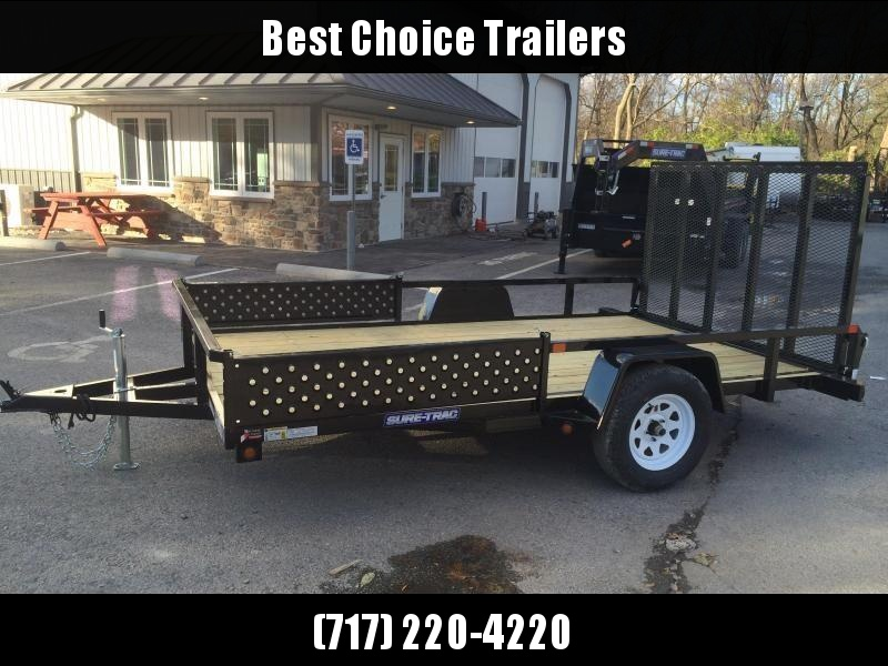 2018 Sure-Trac 7x12' Tube Top ATV Side Ramps Utility Trailer 2990# GVW * CLEARANCE - FREE SPARE