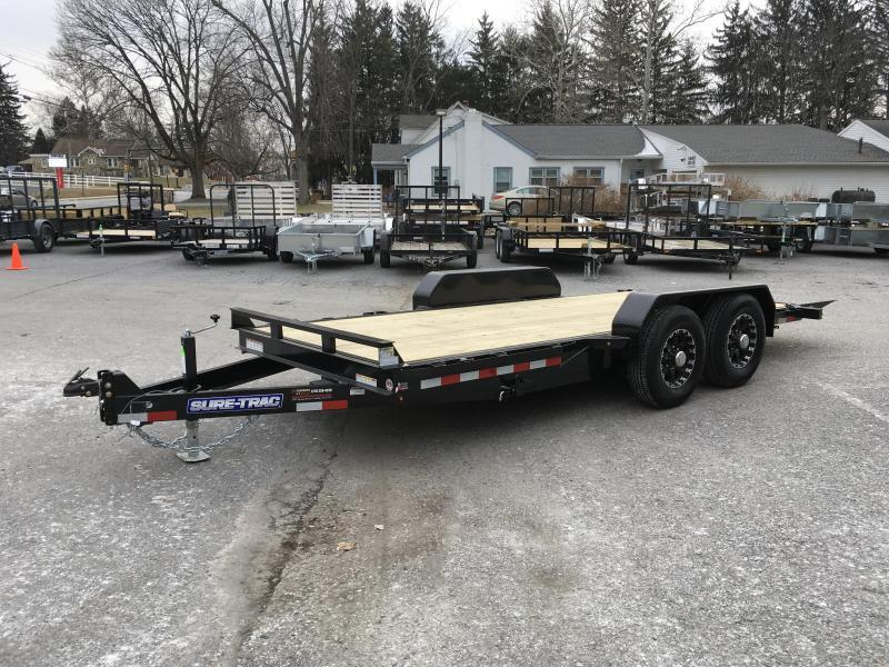 2018 Sure-Trac Gravity Tilt Bed Equipment Trailer 7'x18' 14000#