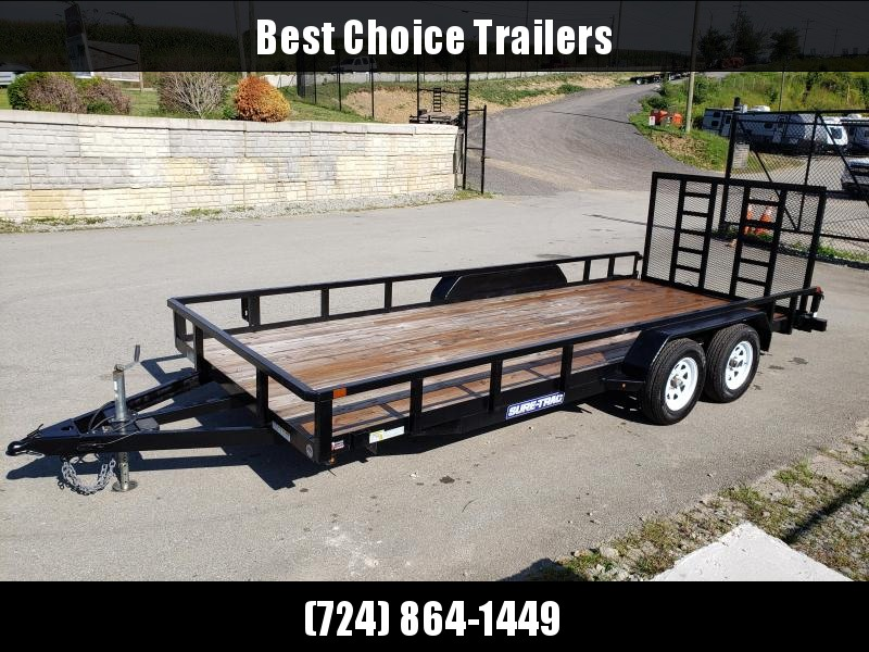 USED 2018 Sure-Trac 7x18' Tube Top Utility Landscape Utility Trailer 7000# GVW