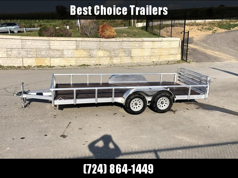 2018 QSA 7x16' Deluxe Aluminum Utility Trailer 7000# GVW * CLEARANCE