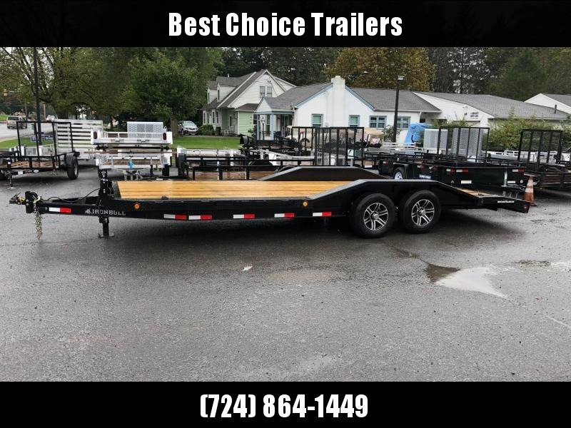 "2018 Iron Bull 102""x20' Wood Deck Car Trailer 9990# GVW * 102"" DECK * DRIVE OVER FENDERS * BLACK(ED) OUT FRIDAY SPECIAL - FREE ALUMINUM WHEELS"