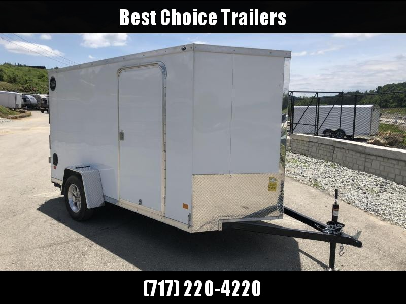 2018 Wells Cargo 6x12' VG500 Enclosed Cargo Trailer 2990# GVW * WHITE * RAMP DOOR * CLEARANCE