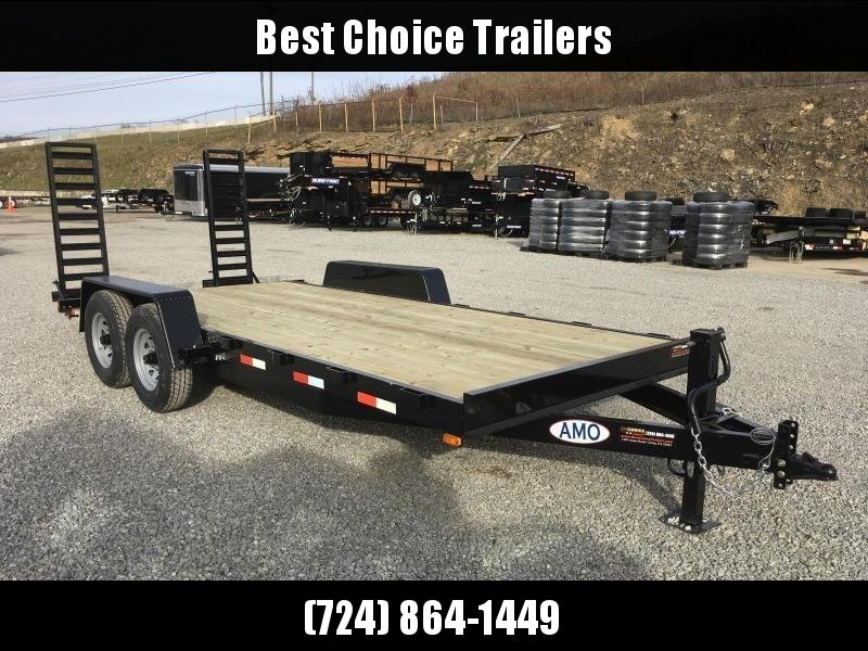 2018 AMO 7x18' Equipment Trailer 12000# GVW * CLEARANCE