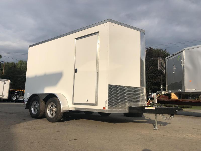 2020 Sure-Trac 7x12' Enclosed Cargo Trailer 7000# GVW * WHITE * RAMP DOOR