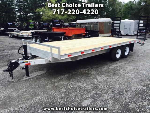 2017 H&H 102x18+4 Aluminum Deckover Equipment Trailer 14000#