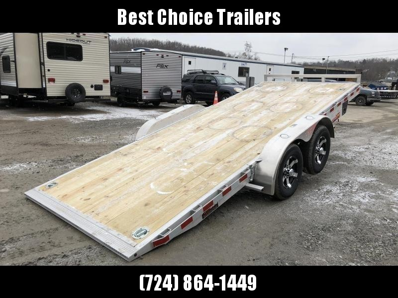 2019 H&H 7x20' Manual Tilt Aluminum Car Hauler 9990# GVW