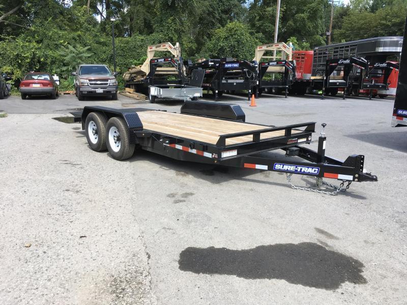 2017 Sure-Trac 7x18' Tilt Bed Equipment Trailer 9900# GVW