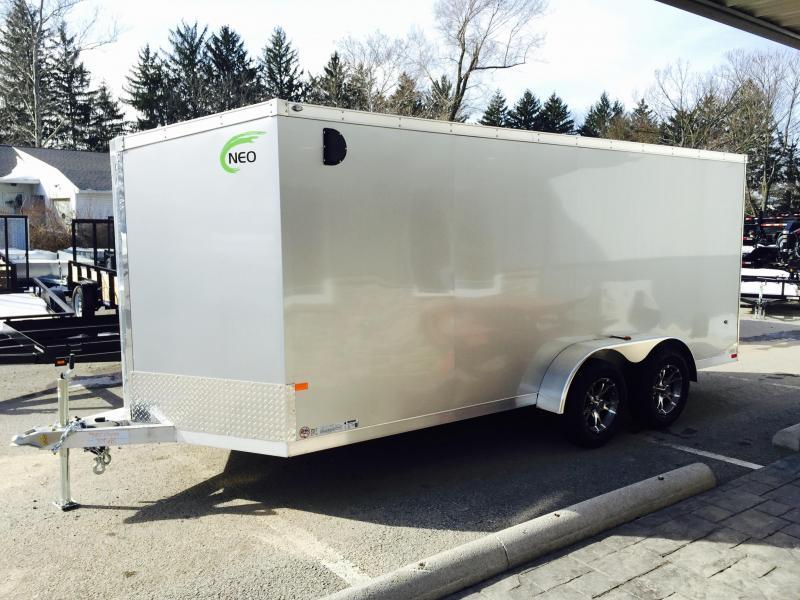 2016 Neo NAVF 7x16 Aluminum Enclosed Cargo Trailer