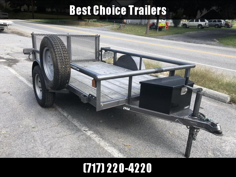 USED 2010 Diamond C 5x8' Utility Landscape Trailer 2990# GVW * SPARE TIRE * BI FOLD GATE * CHARCOAL * TOOLBOX * D-RINGS