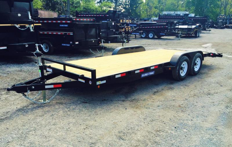 2017 Sure-Trac 7x18' 9900# Wood Deck Car Hauler