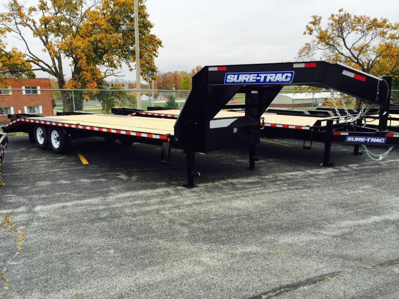 2017 Sure-Trac 102x20+5 15000# Gooseneck Beavertail Deckover Trailer PIERCED FRAME