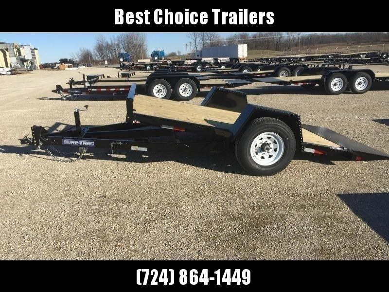 "2019 Sure-Trac 78""x12' 7000# GVW Tilt Equipment Trailer Scissor Hauler"