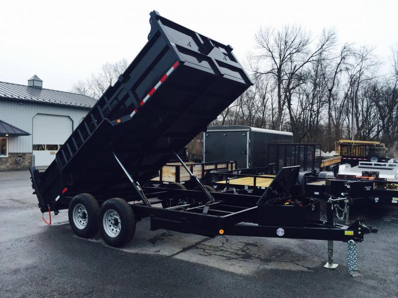 2016 QSA 7x12' 12K Low Profile Dump Trailer