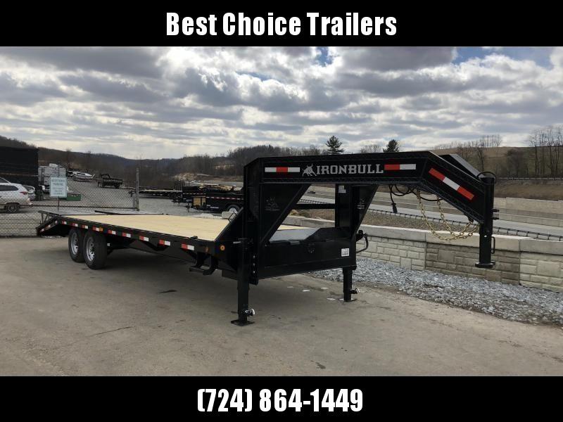 2019 Ironbull 102x20+5' Gooseneck Beavertail Deckover Flatbed 14000# * 2 Flipover Ramps