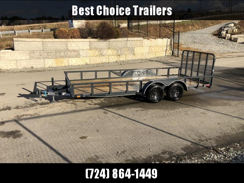2019 X-On 7x18' Utility Landscape Trailer 7000# GVW * TUBE TOP * CHARCOAL * CLEARANCE