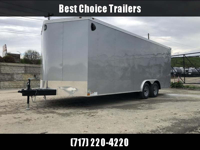 2019 Wells Cargo 8.5x20' Fastrac DELUXE Enclosed Car Trailer 7000# GVW * SILVER EXTERIOR * RAMP DOOR * .030 METAL * CLEARANCE