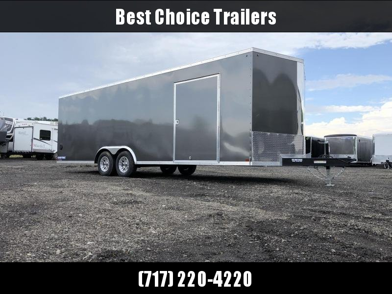 2019 Sure-Trac 8.5x24' Enclosed Car Trailer 9900# GVW * CHARCOAL * 7K DROP LEG JACK * 7' HEIGHT UPGRADE