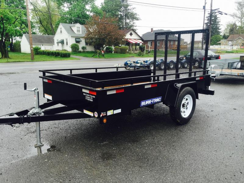 2017 Sure-Trac 5x8' Steel High Side Landscape Utility Trailer 2990# GVW