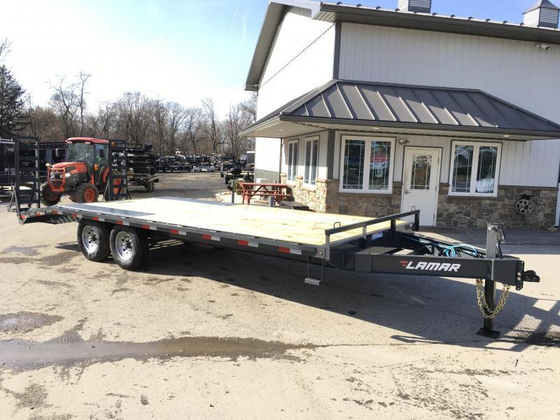 2018 Lamar F8 102x22' Beavertail Deckover Trailer 14000# GVW Stand Up ramps