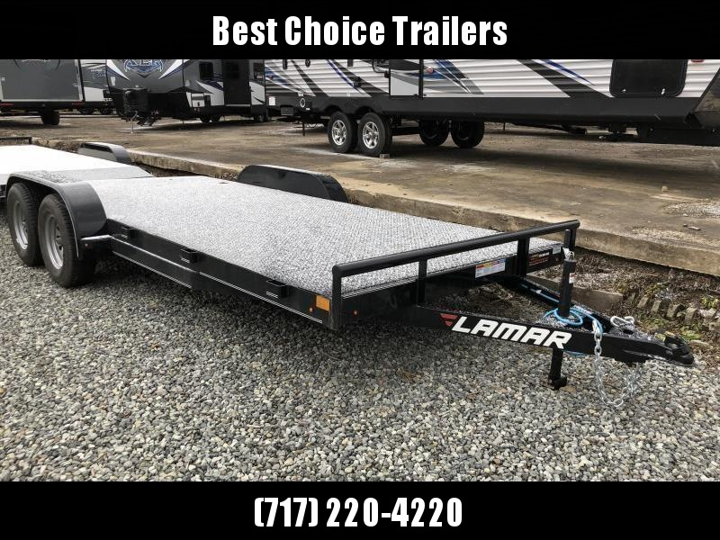 2019 Lamar 7x18' Steel Deck Car Trailer 7000# GVW * 11GA STEEL DECK * CHARCOAL * 3' DOVETAIL