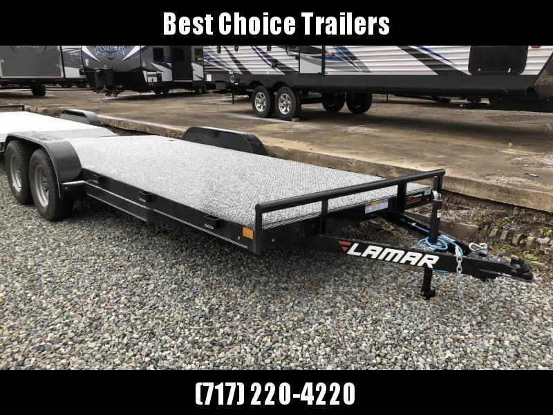 2019 Lamar 7x18' Steel Deck Car Trailer 7000# GVW * 11GA STEEL DECK * CHARCOAL * 3' DOVETAIL