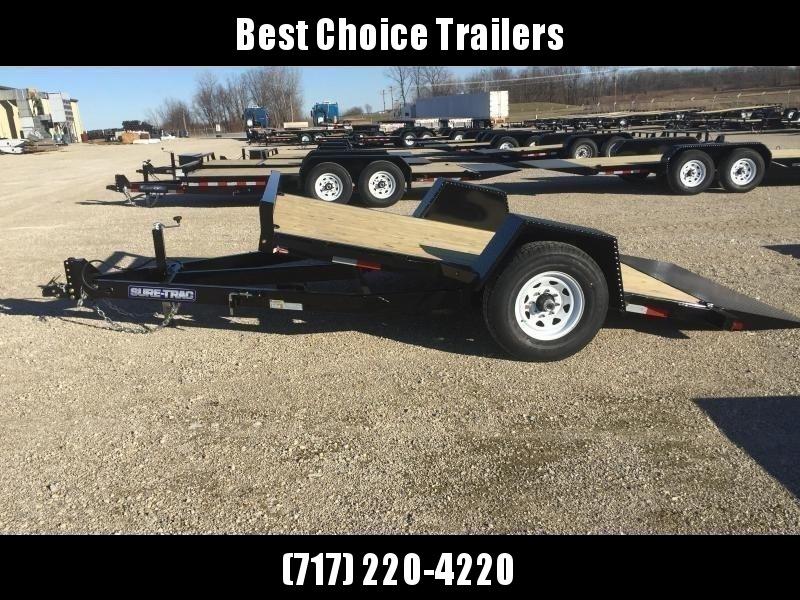 "2019 Sure-Trac 78""x12' 7000# GVW Tilt Equipment Trailer Scissor Hauler"