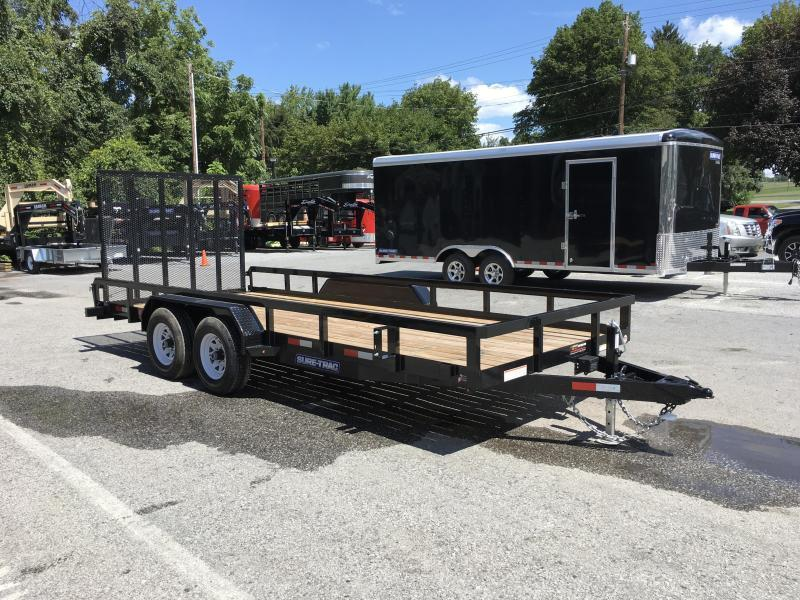 2018 Sure-Trac 7x20' Tube Top Utility Trailer 9900# GVW